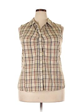 White Stag Sleeveless Button-Down Shirt Size 1X (Plus)