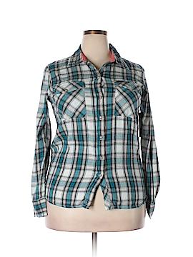 Hurley Long Sleeve Button-Down Shirt Size XL
