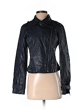 Blanc Noir Faux Leather Jacket Size S