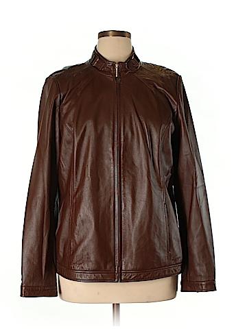 Bradley by Bradley Bayou Leather Jacket Size XL