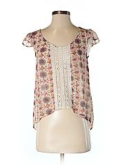 Wall Flower Women Short Sleeve Blouse Size S