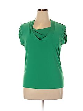 Tahari by ASL Short Sleeve Blouse Size XL
