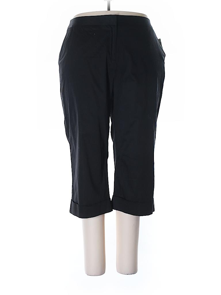 2e5aaff6c8cbd Alfani Solid Black Casual Pants Size 18 (Plus) - 70% off