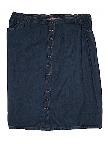 Woman Within Denim Skirt Size 32W (Plus)