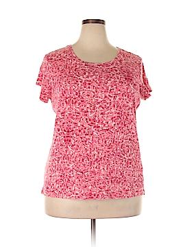 Daisy Fuentes Short Sleeve T-Shirt Size 2X (Plus)
