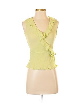 Bernardo Sleeveless Button-Down Shirt Size 4