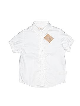 Lands' End Short Sleeve Button-Down Shirt Size 7