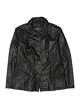 Jaclyn Smith Leather Jacket Size L