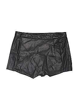 Zara Basic Faux Leather Shorts Size S