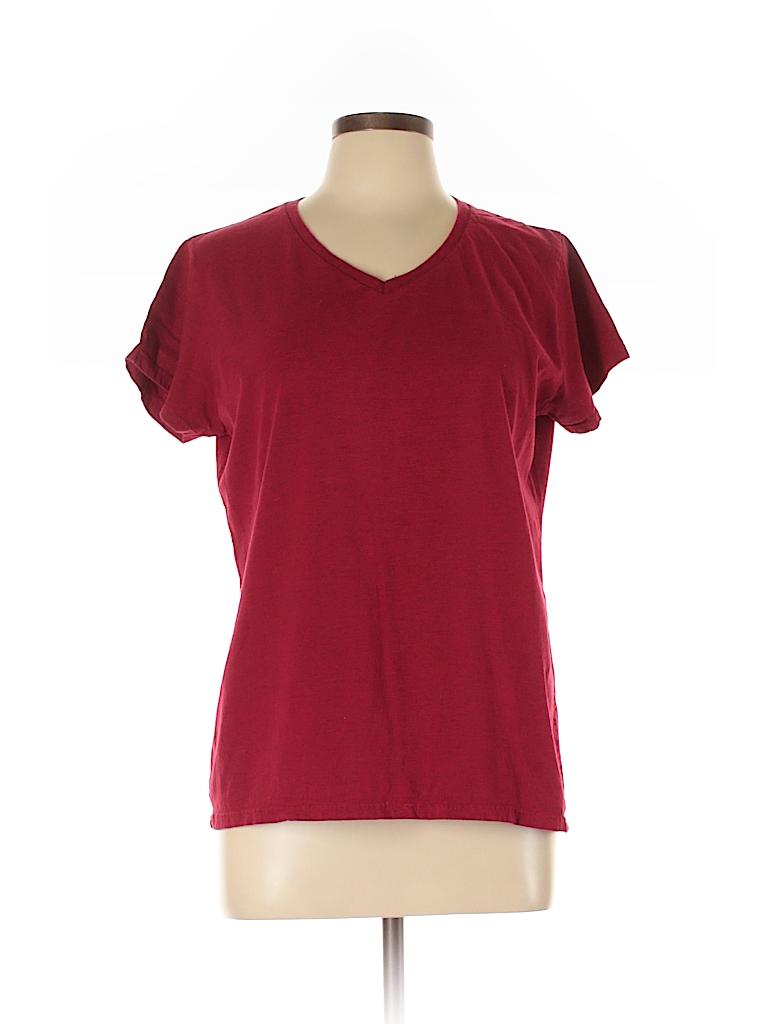 Gildan Women Short Sleeve T-Shirt Size L