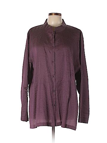 Eileen Fisher Long Sleeve Silk Top Size 3X (Plus)