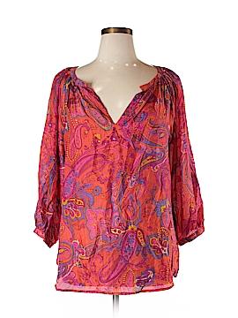 Lauren by Ralph Lauren 3/4 Sleeve Silk Top Size XL
