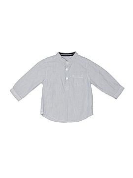 Bout'chou Long Sleeve Button-Down Shirt Size 6 mo