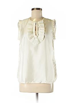 J. Crew Short Sleeve Silk Top Size 8
