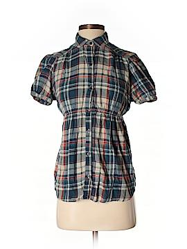 Zara TRF Short Sleeve Button-Down Shirt Size M