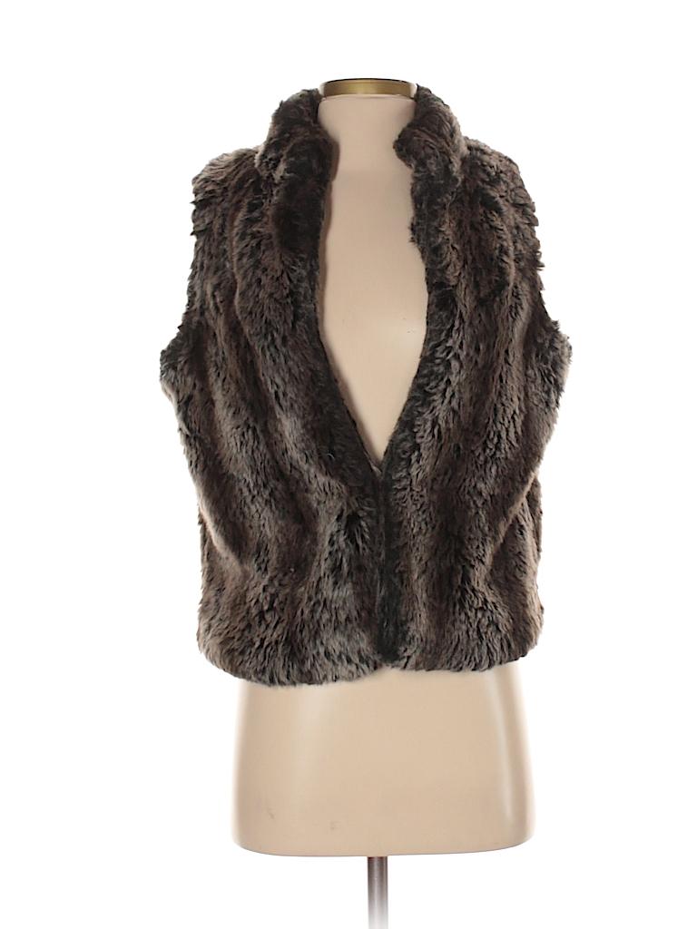 e9b38d85fb8e2 Outdoor Edition by Parkhurst Solid Black Faux Fur Vest Size S - 74 ...