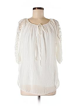 Nicole 3/4 Sleeve Silk Top Size M