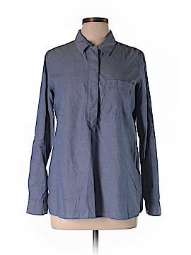 Fleur bleue Long Sleeve Button-Down Shirt Size M