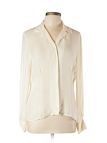 Jones New York Long Sleeve Silk Top Size 12