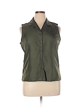 Allison Taylor Sleeveless Silk Top Size XL