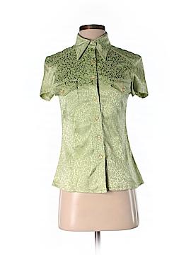 Vertigo Paris Short Sleeve Button-Down Shirt Size S