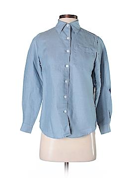 Villager Sport by Liz Claiborne Long Sleeve Button-Down Shirt Size P (Petite)
