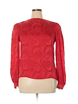 David Hayes Long Sleeve Silk Top Size 14
