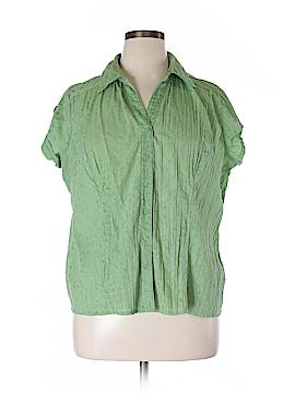 Brina & Em Short Sleeve Button-Down Shirt Size XL