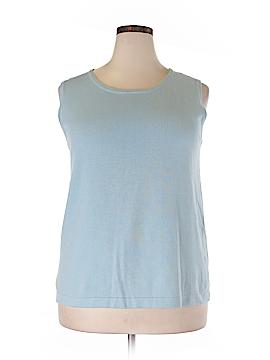 Joan Vass Sweater Vest Size 3X (Plus)