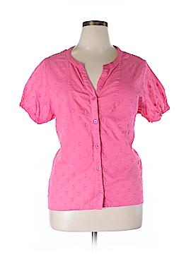 Caribbean Joe Short Sleeve Button-Down Shirt Size 1X (Plus)