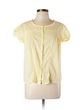 Mandarin Blue Short Sleeve Blouse Size L