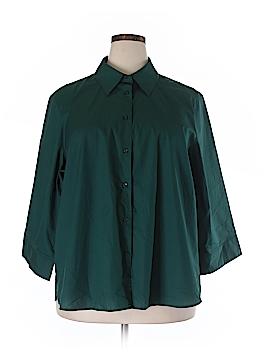Foxcroft 3/4 Sleeve Button-Down Shirt Size 22W (Plus)