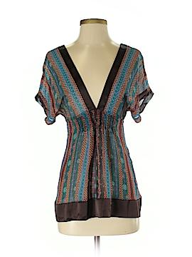 Mint Short Sleeve Silk Top Size XS