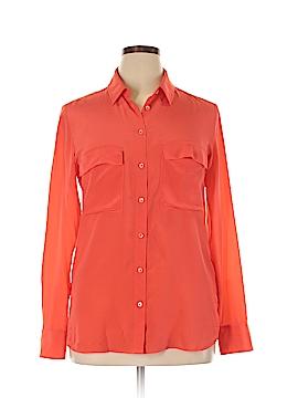 Babaton Long Sleeve Silk Top Size L