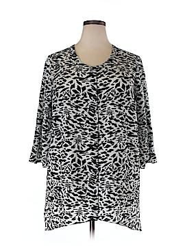 Black Rainn Short Sleeve Blouse Size 1X (Plus)