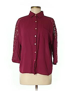 Entro 3/4 Sleeve Button-Down Shirt Size M