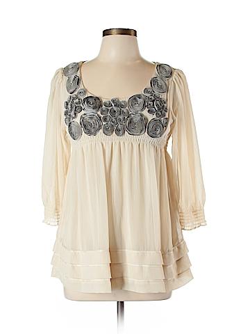 ECI 3/4 Sleeve Blouse Size 10