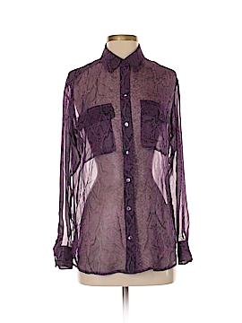 Equipment Long Sleeve Silk Top Size XS