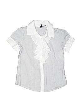 Benetton Class Short Sleeve Button-Down Shirt Size 7