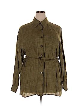 Rena Rowan Long Sleeve Button-Down Shirt Size 22 (Plus)