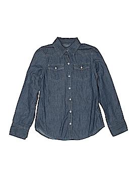 Mudd Long Sleeve Button-Down Shirt Size X-Small (Kids)
