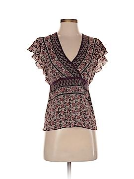 Katayone Adeli Short Sleeve Silk Top Size S