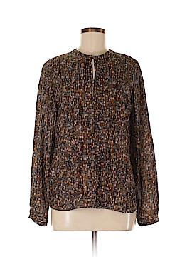 BOSS by HUGO BOSS Long Sleeve Silk Top Size 8