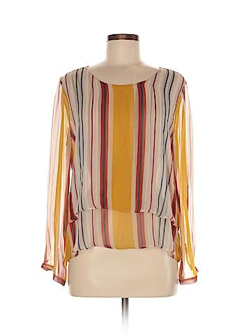 Maeve Long Sleeve Silk Top Size M