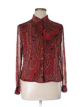 Spenser Jeremy Long Sleeve Silk Top Size 14