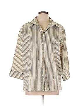 DCC 3/4 Sleeve Button-Down Shirt Size 1X (Plus)