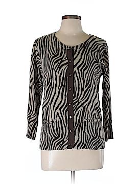 A Line Silk Cardigan Size L