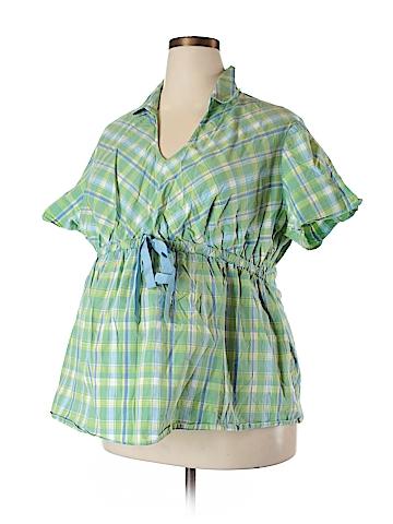 Motherhood Short Sleeve Blouse Size 3X (Maternity)