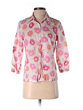 Sigrid Olsen 3/4 Sleeve Button-Down Shirt Size S