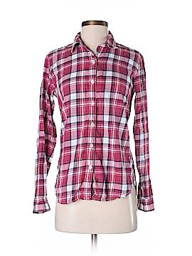 Garnet Hill Long Sleeve Button-Down Shirt Size 00